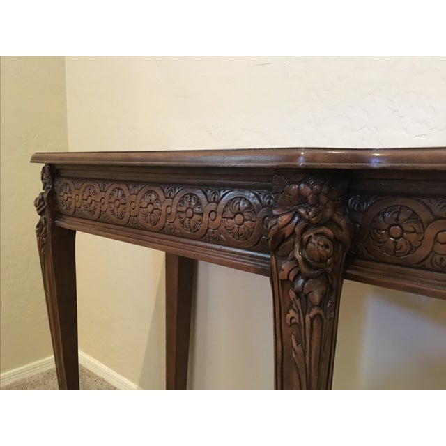 Carved Wood Buffet Table - Image 5 of 6