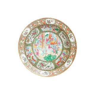 A Large 19th Century Chinese Porcelain Rose Medallion Bowl For Sale