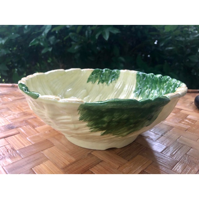 Asparagus Shabby Chic Green Ceramic Asparagus Bowl For Sale - Image 8 of 10