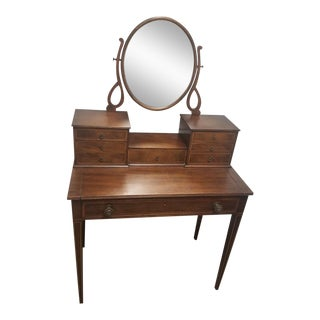 Traditional Mahogany Vanity with Mirror