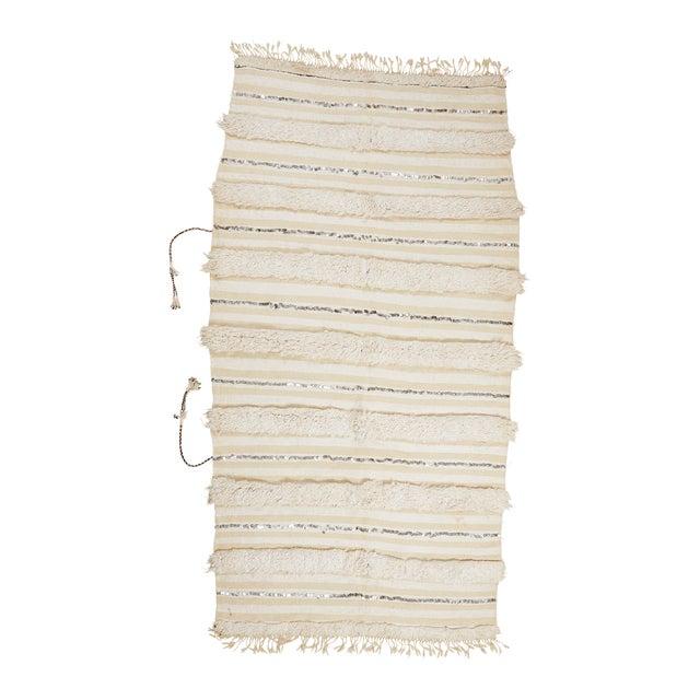 Vintage Handira Moroccan Wedding Blanket - Image 1 of 2