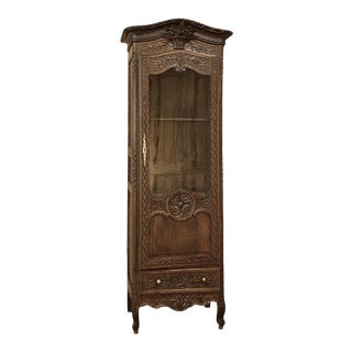 19th Century Country French Vitrine From Normandie For Sale