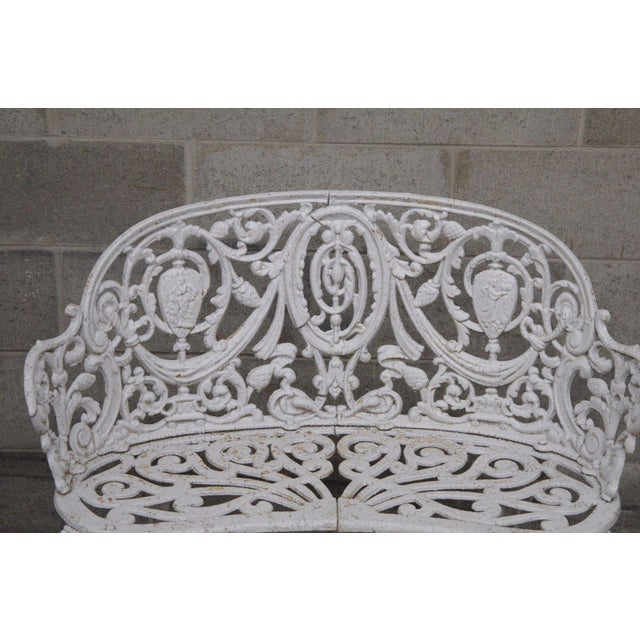 Antique Cast Iron Victorian Garden Bench - Image 3 of 11