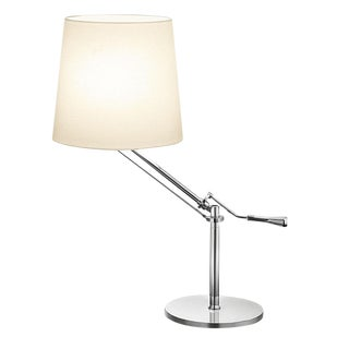Angle Polished Chrome Desk Light For Sale