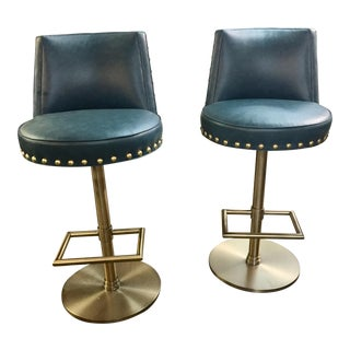 A Pair of Vanguard Contemporary Barstools For Sale