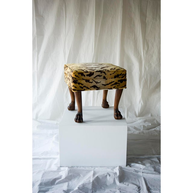 vanCollier Scalamandre for vanCollier Rory Ottoman For Sale - Image 4 of 5