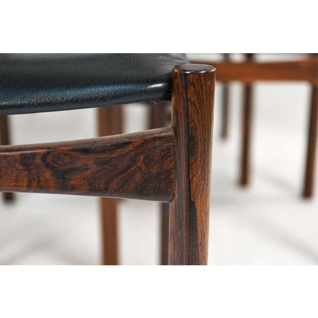 Six Mid-Century Modern Danish Dining Chairs, Soro Stolefabrik Denmark, Rosewood For Sale - Image 11 of 13