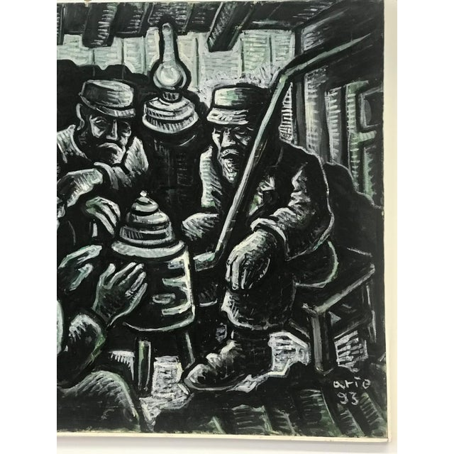 1990s Arie Eckstein Contemporary Oil Painting For Sale - Image 4 of 10