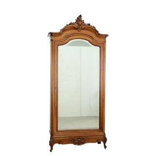 Late 19th Century Antique French Louis XV Style Single Door Armoire For Sale