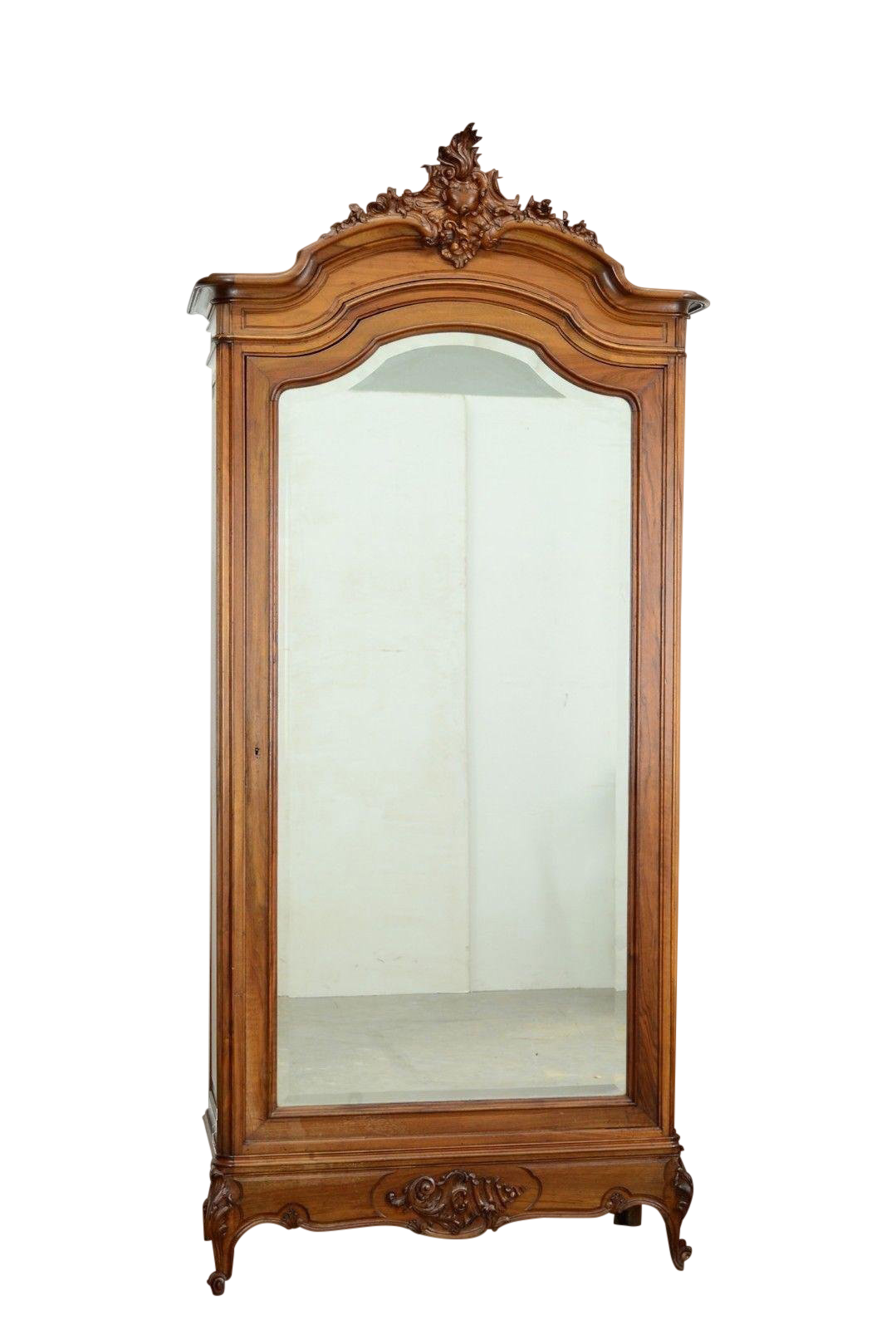 Late 19th Century Antique French Louis XV Style Single Door Armoire