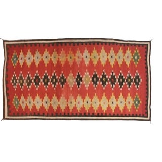 Large and Dramatic Navajo Rug- 5′ × 10′ For Sale