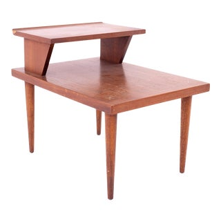 Merton Gershun for American of Martinsville Mid Century 2 Tier Side End Table For Sale