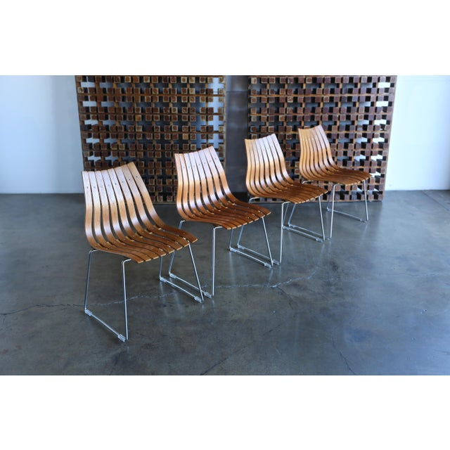 1960s Hans Brattrud Scandia for Hove Mobler Dining Chairs - Set of 4 For Sale - Image 12 of 12
