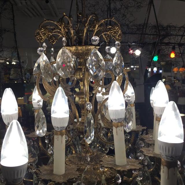 Vintage Twenty Light Crystal Chandelier - Image 8 of 11
