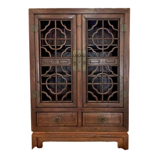Chinese Fretwork Cabinet For Sale