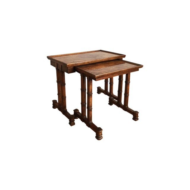 Vintage Drexel Heritage Nesting Tables - A Pair For Sale