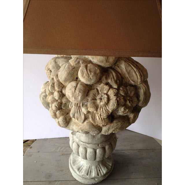 Heavy Plaster Fruit Table Lamp - Image 6 of 6