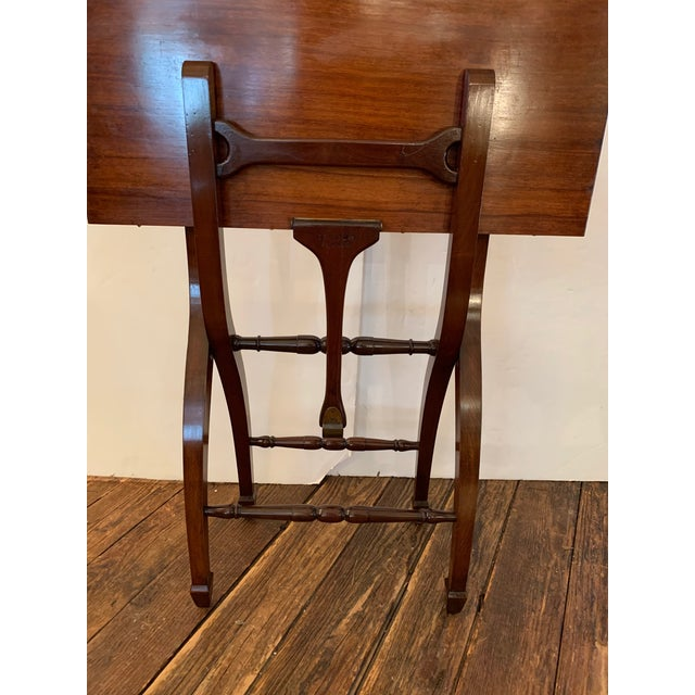 Wood Versatile Campaign Style Mahogany Side or Dining Table For Sale - Image 7 of 13
