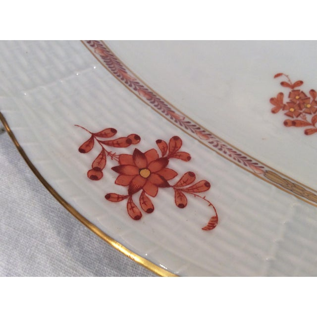 Orange Herend Chinese Bouquet Rust Oval Platter For Sale - Image 8 of 9