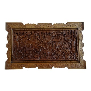 Village Balinese Wood Carving For Sale
