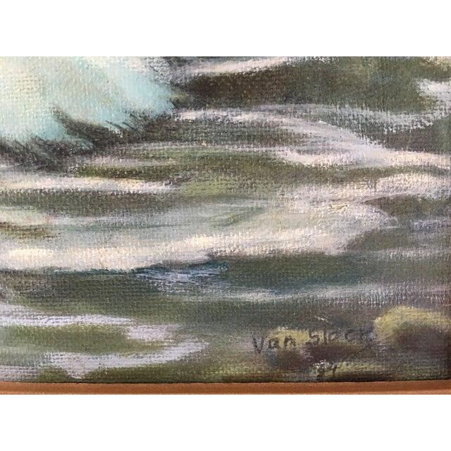 Coastal Seascape Oil Painting - Image 5 of 6