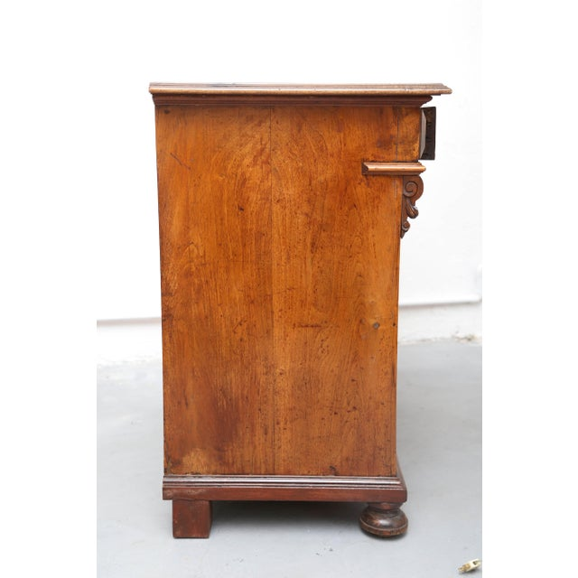 Late 19th Century Biedermeier Style Walnut Cabinet, Germany, 1890 For Sale - Image 5 of 13