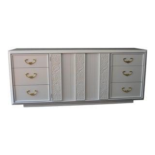 White Restored Mid-Century Dresser