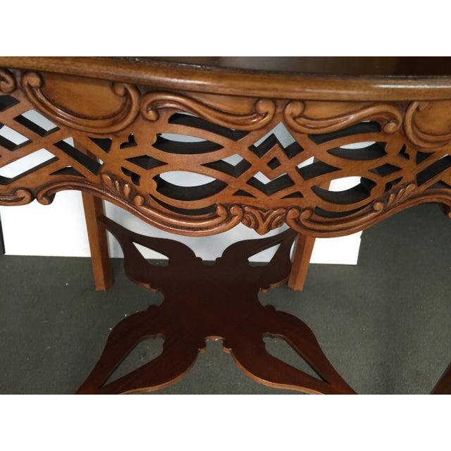 Wood Baker Furniture Drop Leaf Table Pembroke Table Historic Charleston For Sale - Image 7 of 9