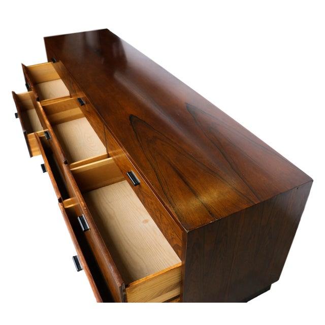 Danish Modern Mid Century Rosewood Dresser Milo Baughman Style For Sale - Image 3 of 10