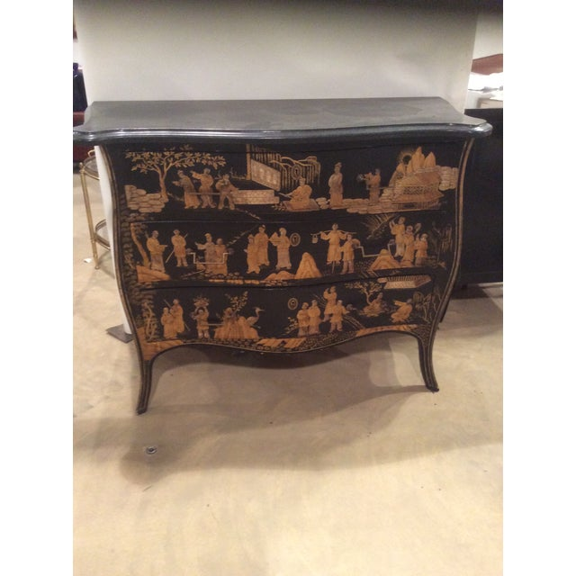 Stone Chinoiserie Marble Top Chest For Sale - Image 7 of 7