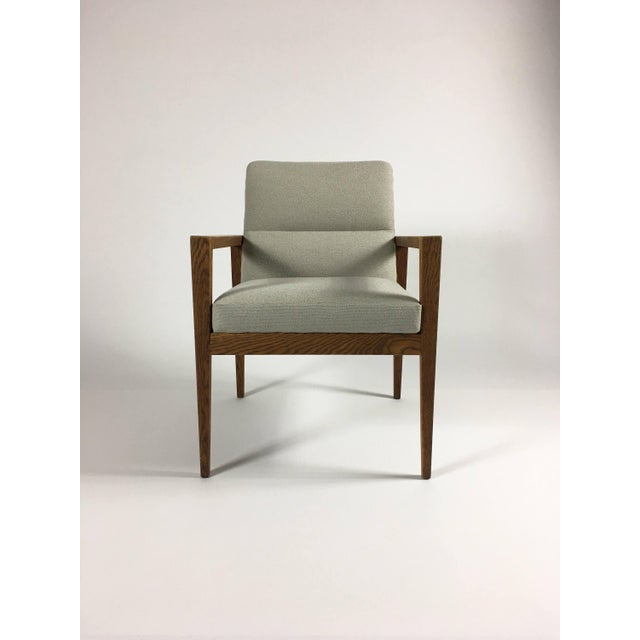 Textile 1950s Mid-Century Modern Jens Risom Accent Chair With Arms For Sale - Image 7 of 8