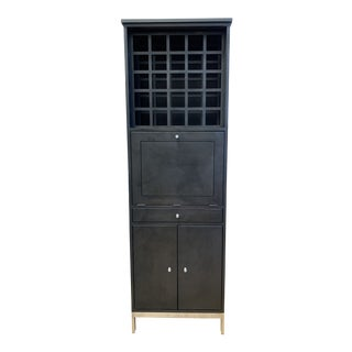 Room & Board Linear Collection Custom Bar Cabinet For Sale