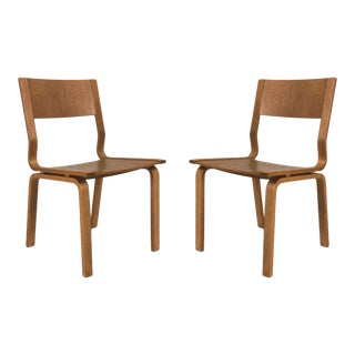 1960s Vintage Arne Jacobsen Oak Saint Catherines Chairs - a Pair For Sale