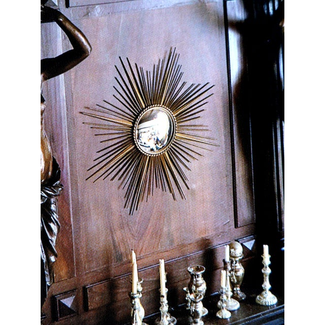 Vintage Chaty Vallauris French Sunburst Mirror For Sale In Miami - Image 6 of 6