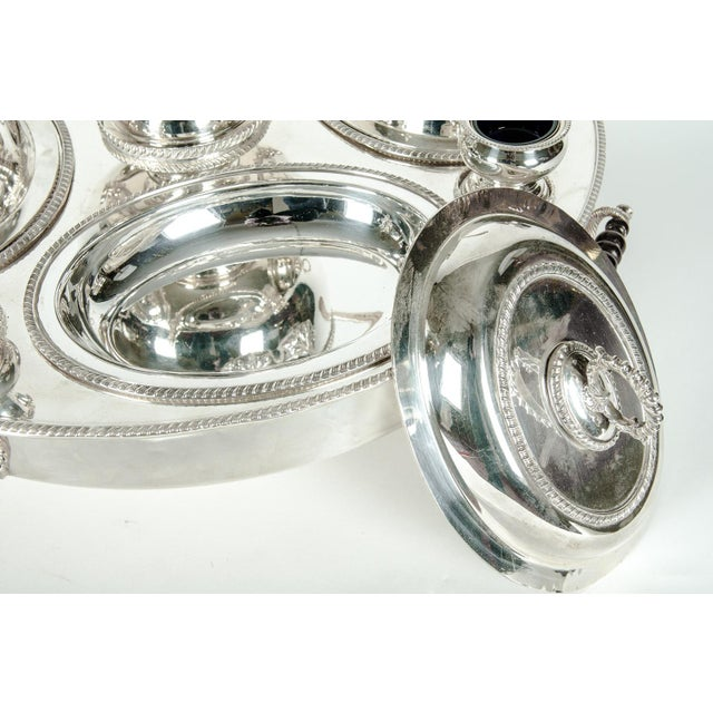 English Silver Plated Revolving Serving Dish Set of 9 For Sale - Image 4 of 12