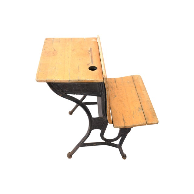 American Seating Antique School Desk