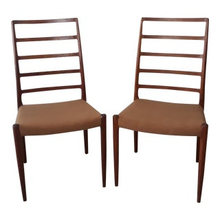 j.l. Moller Danish Modern Teak Ladder Back Chairs - a Pair For Sale