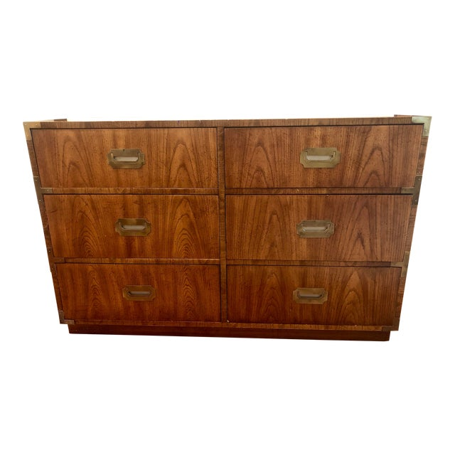 Dixie Campaigner Six Drawer Dresser For Sale