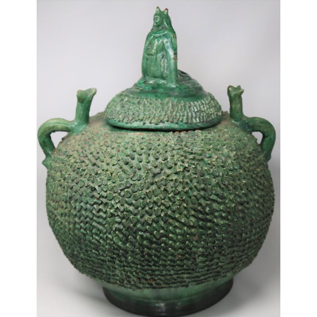 Mexican Green Lidded Pot For Sale - Image 11 of 11