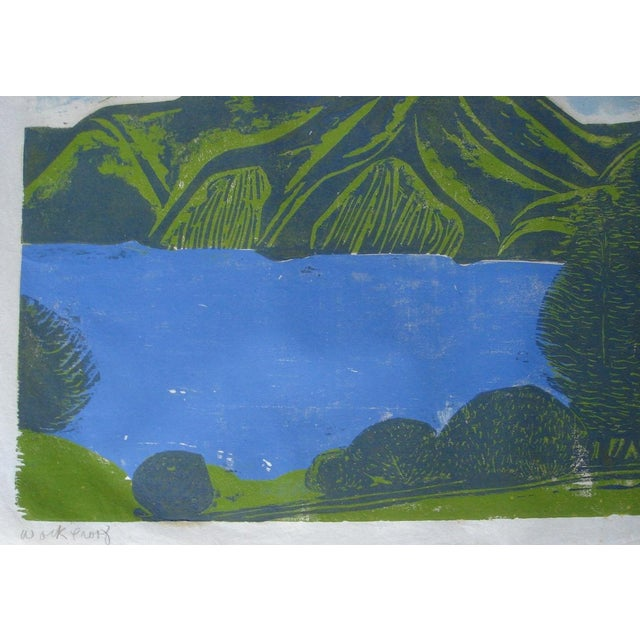"""""""South Bay"""" Woodblock by William Wolff - Image 3 of 4"""