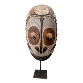 Early 20th Century Antique Papua New Guinea Head Sculpture For Sale