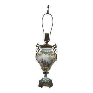 Antique Serves Lamp For Sale