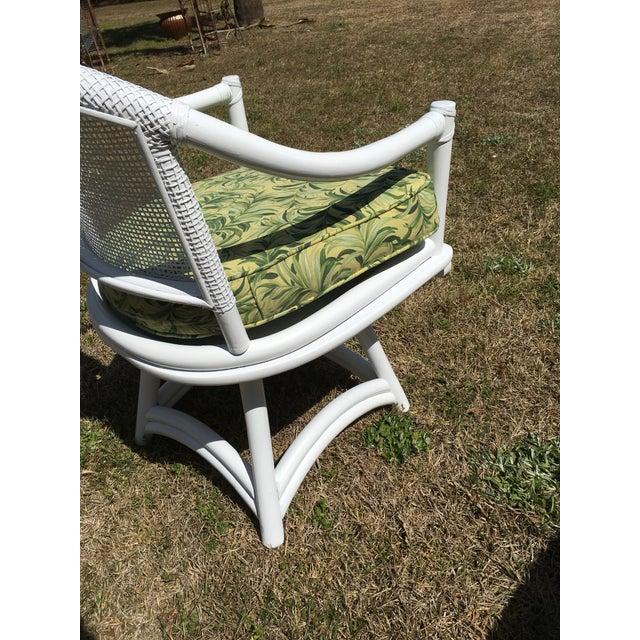 Ficks Reed Cane Swivel Chairs - A Pair - Image 9 of 10