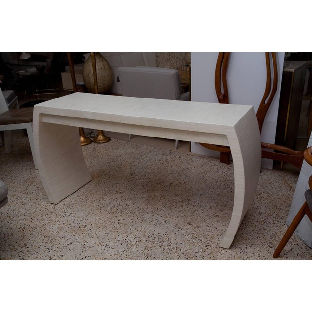 Contemporary Fully Restored Tessellated Bone Two-Drawer Console by Enrique Garces C. 1980 For Sale - Image 3 of 13