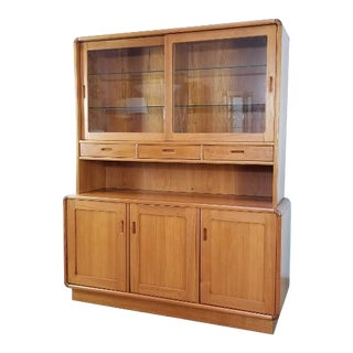 Mid-Century Danish Modern China Cabinet Credenza For Sale