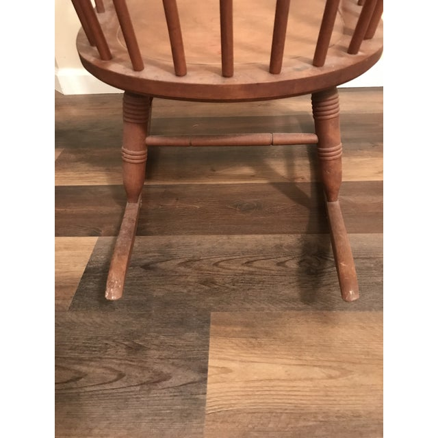Vintage Wood Rocking Chair For Sale - Image 10 of 13