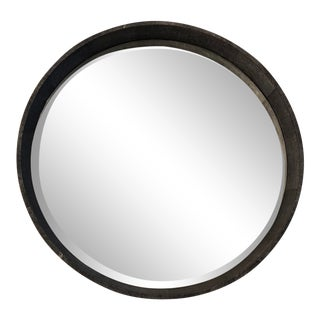 Made Goods Faux Shagreen Round Emma Mirror For Sale