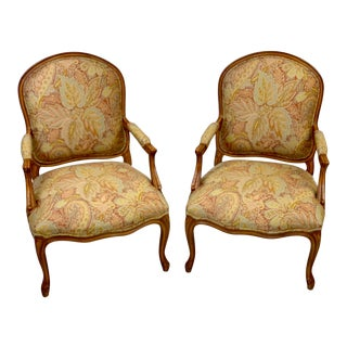 Late 20th Century Brunschwig & Fils Bergere Chairs - Pair For Sale