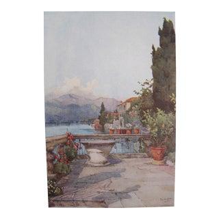 1905 Ella du Cane Print, A Garden, Lago d'Orta