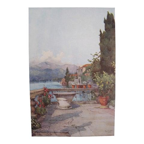 Image of 1905 Ella du Cane Print, A Garden, Lago d'Orta